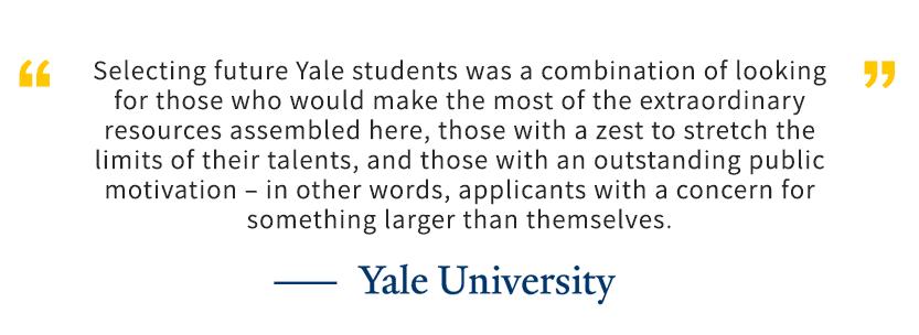 耶鲁大学招生原则