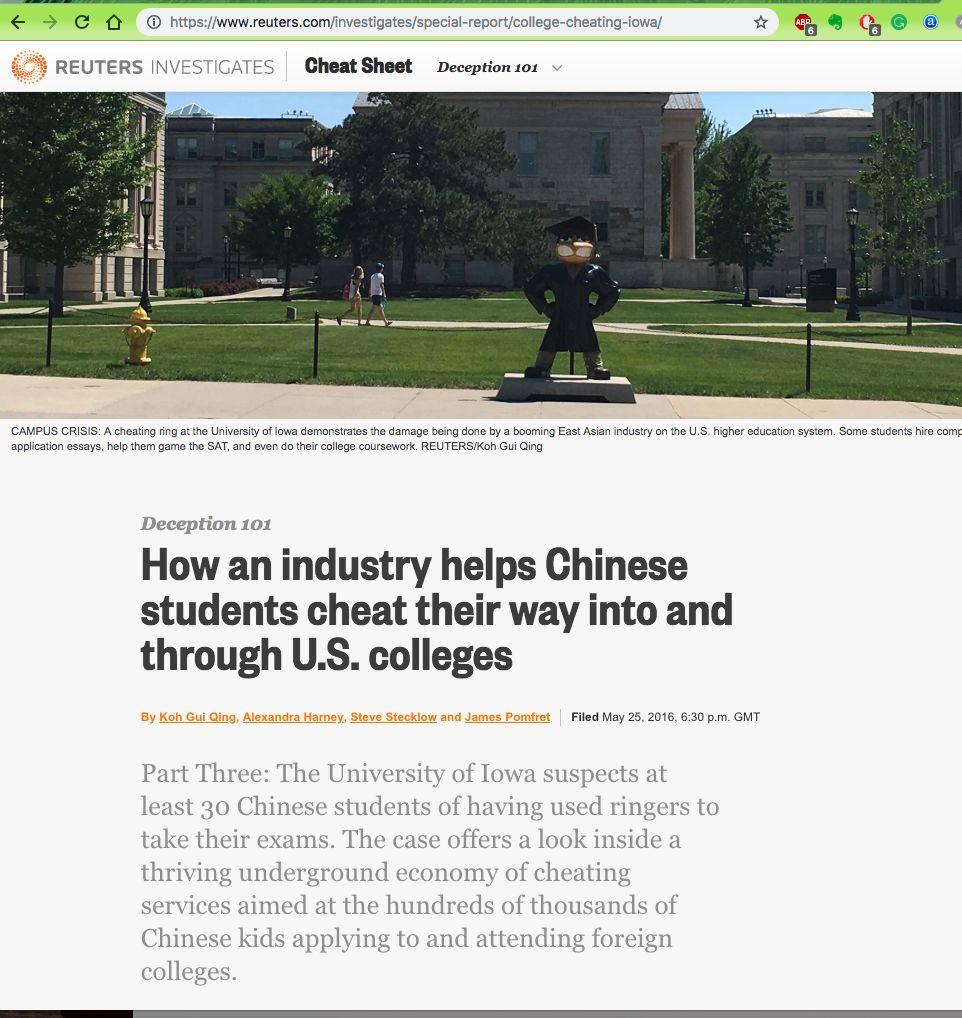 美国留学行业的黑色产业揭秘——校内代考