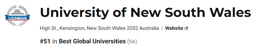 全澳第5、世界第51,新南威尔士大学学术制度知多少