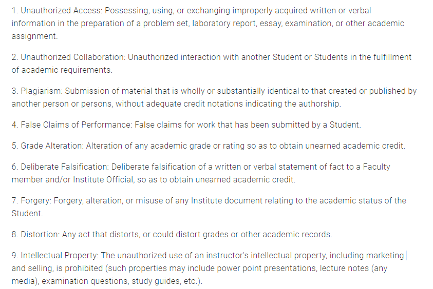 佐治亚理工学院的学术制度是什么?要注意哪些规则?