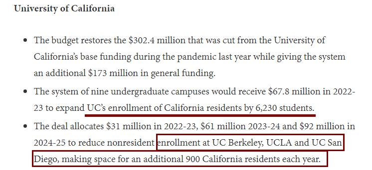 加州大学缩减留学生名额!UCLA、UCB、UCSD影响最大!