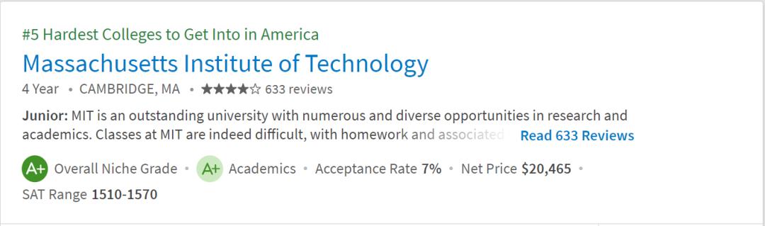 杀疯了!2022「Niche全美最难申请大学」出炉!第一名才4%