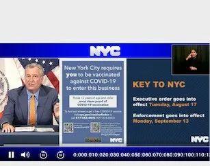 今日起纽约市室内必须出示疫苗证明!违者最高罚款5,000美元