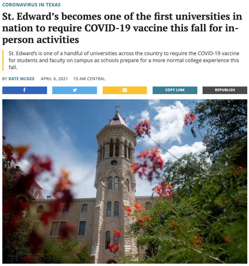 想要秋季开学?美国多所大学强制学生接种疫苗!